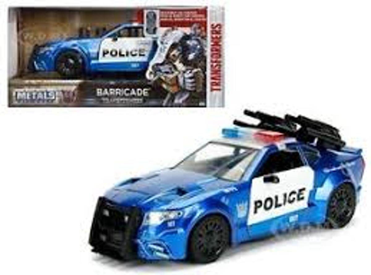 Barricade The Last Knight Custom Police Car 1 24 Jadatoys Transformers