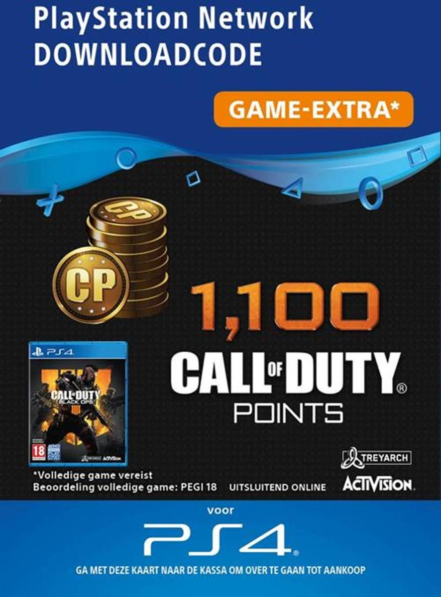 1100 Call of Duty: Black Ops 4 Points BE