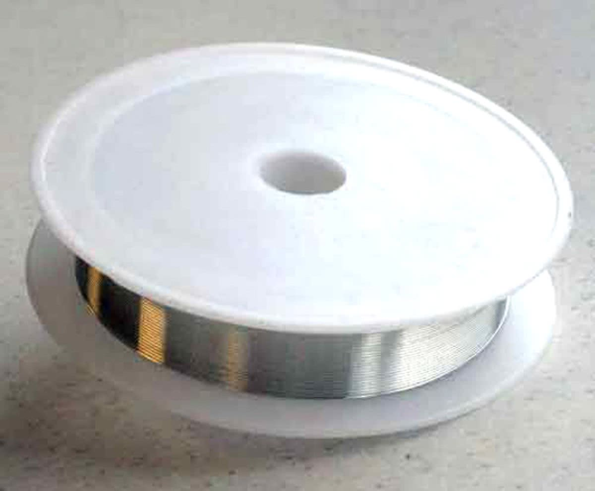 4 Sets Draad Silver-plated copper - Zilver - 0,6mm x 6meter