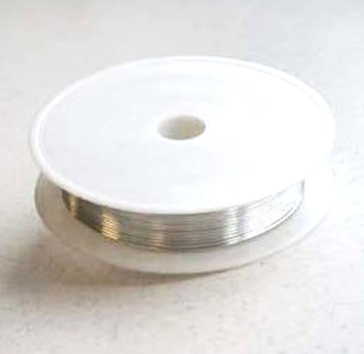 4 Sets Draad Silver-plated copper - Zilver - 0,8mm x 3meter