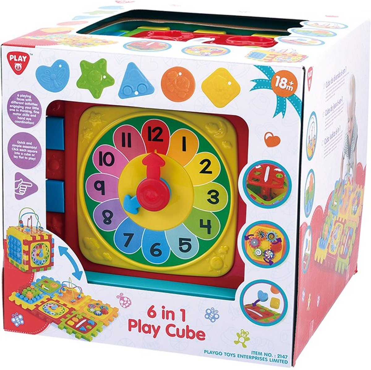 6 In 1 Play Cube PLAYGO - Speelkubus