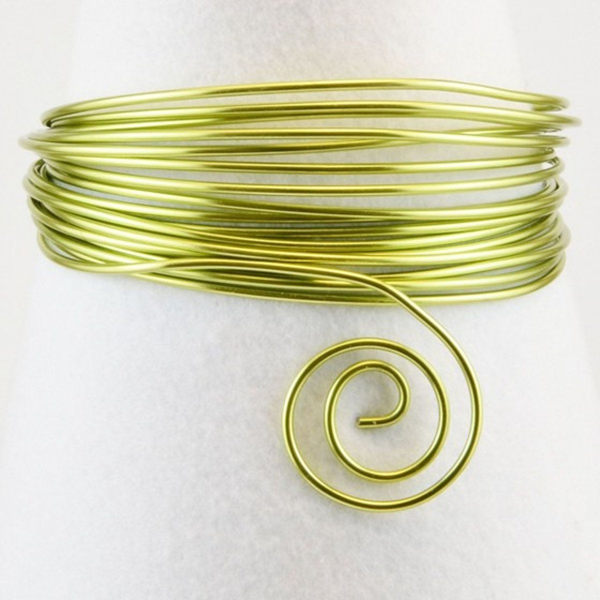 Aluminium draad - Aluminium wire 2mm 60m apple green - 1 stuk