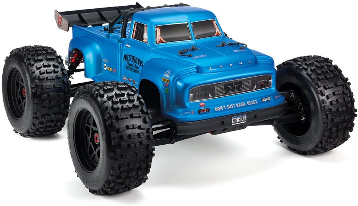 Arrma - Notorious 6S BLX 4WD Blue - 1/8 Monster Truck RTR 2019
