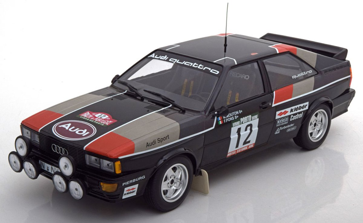 Audi Quattro No.12, Rally de Portugal 1981 Mouton/Pons 1-18 Minichamps Limited 300 Pieces