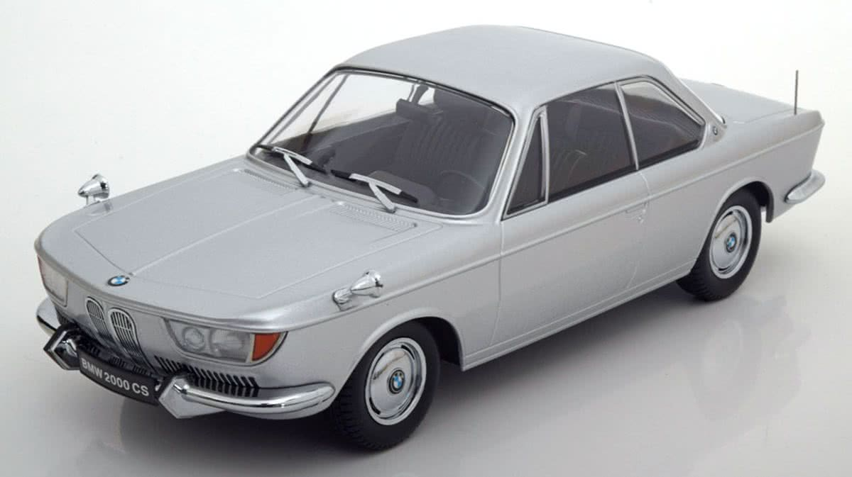 BMW 2000 CS Coupe 1965 Zilver 1/18 KK Scale Limited Edition 1000 pcs