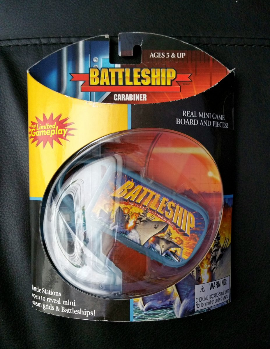 Battleship Carabiner Real Minigame Board and Pieces