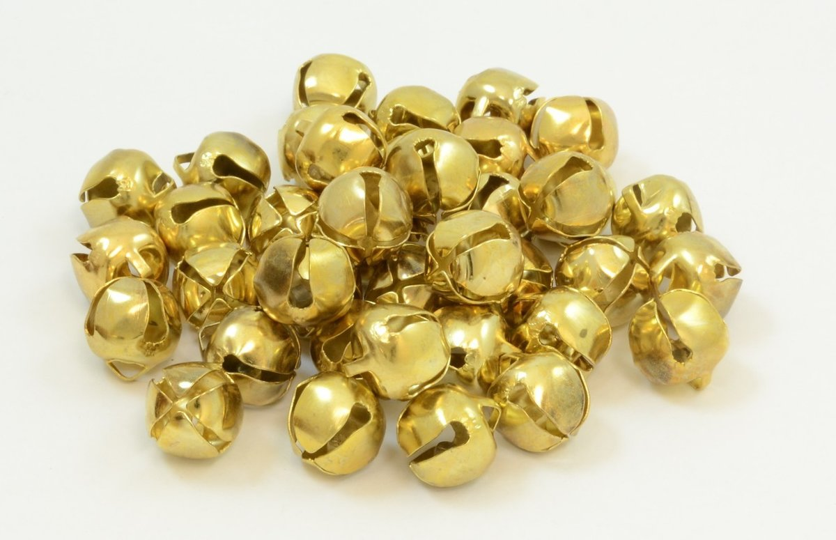 Belletjes - Bells gold 19 mm. 144 pcs. - 1 stuk