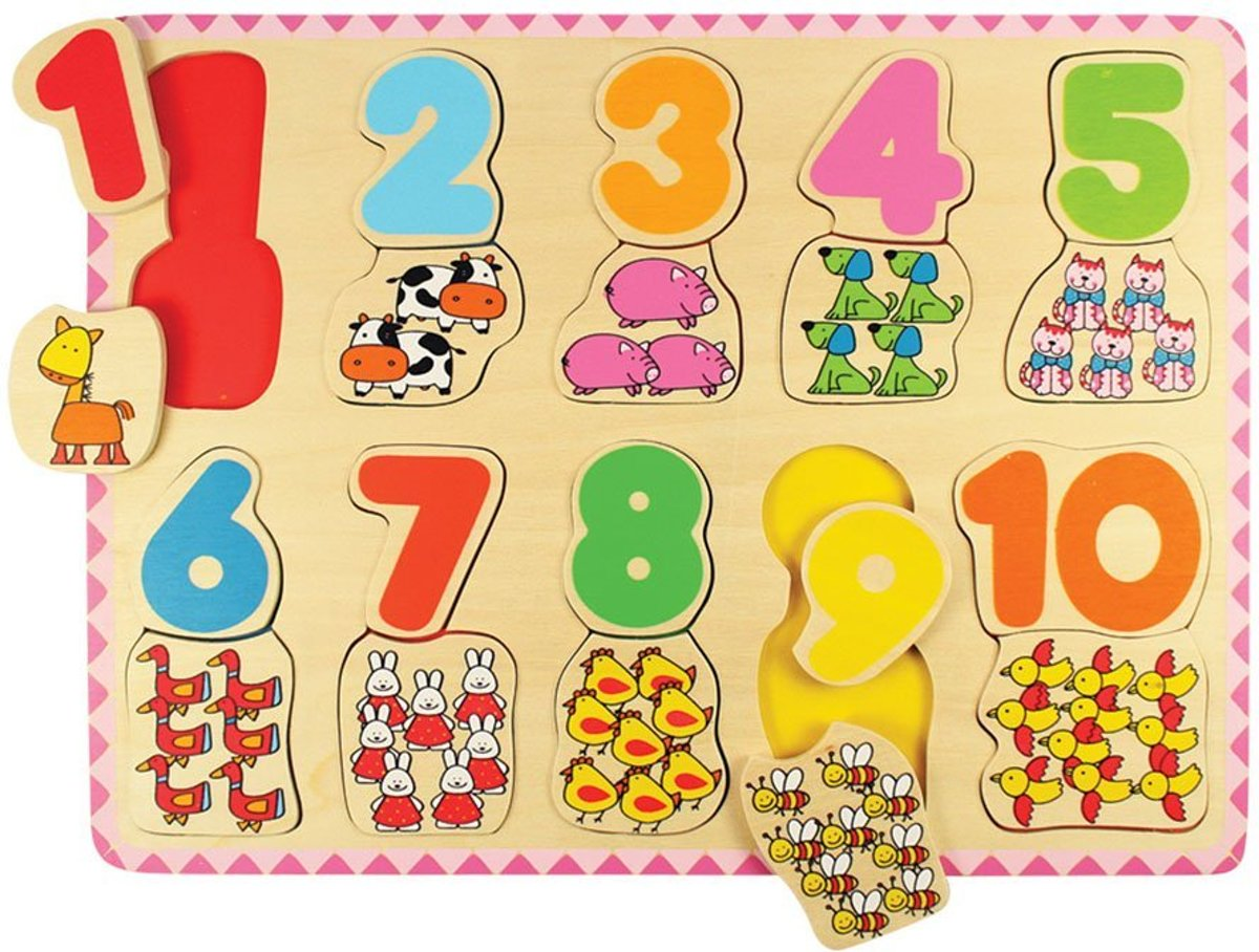 BigJigs Number and Colour Matching Puzzle