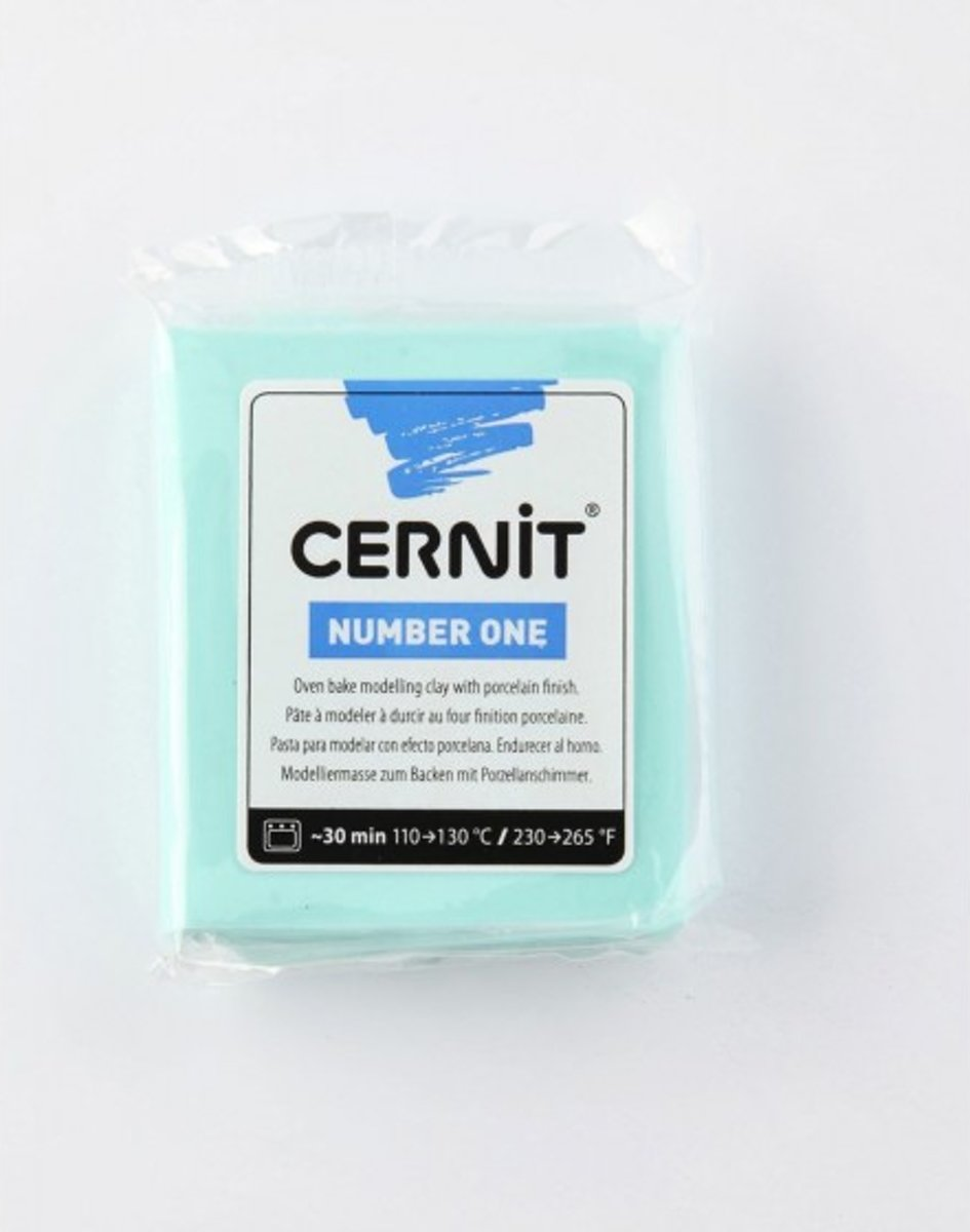 Boetseerklei - Cernit Number one 56g mint green - 6 stuk