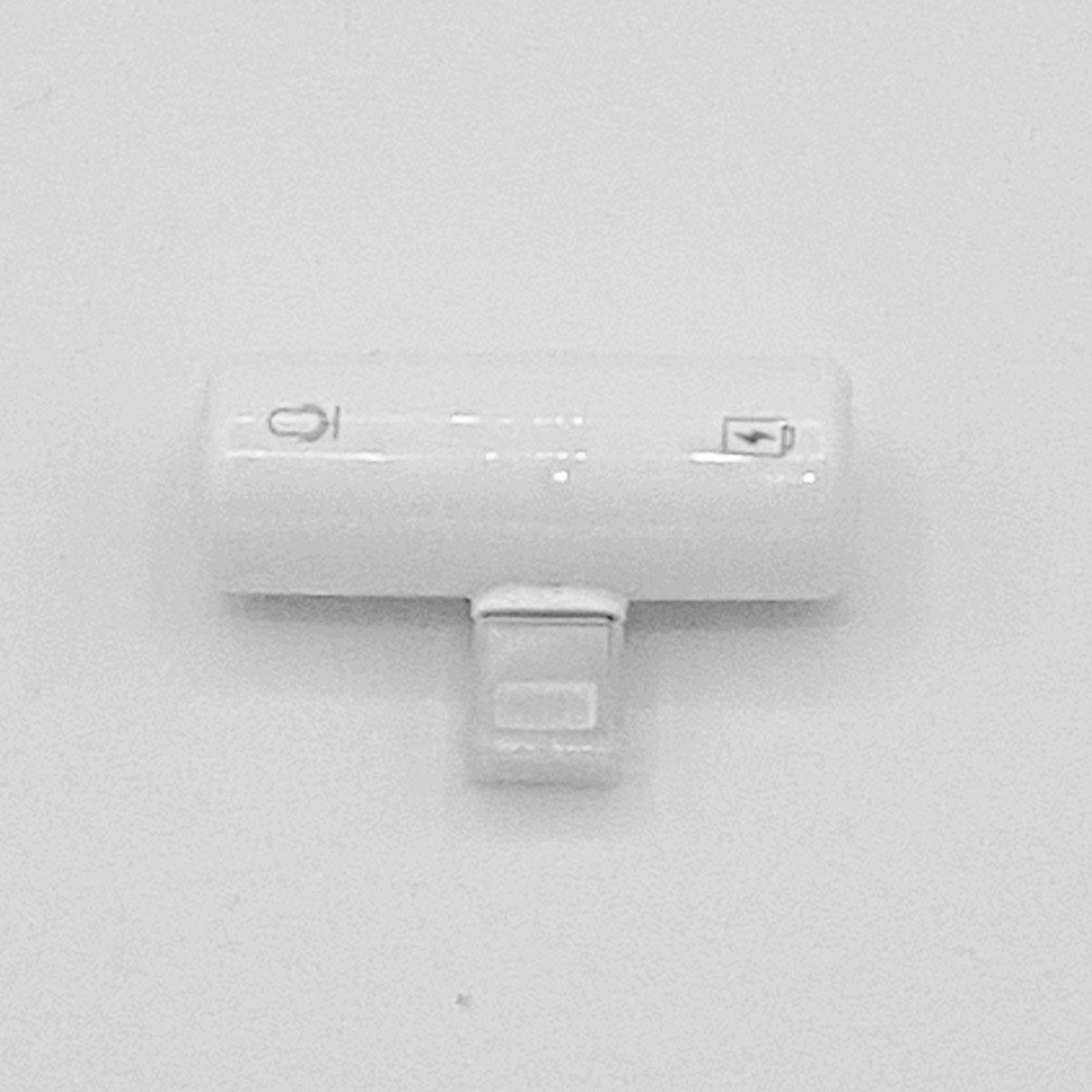 Capsule dual Lightning Splitter – 8 pins en 3.5 mm jack – wit