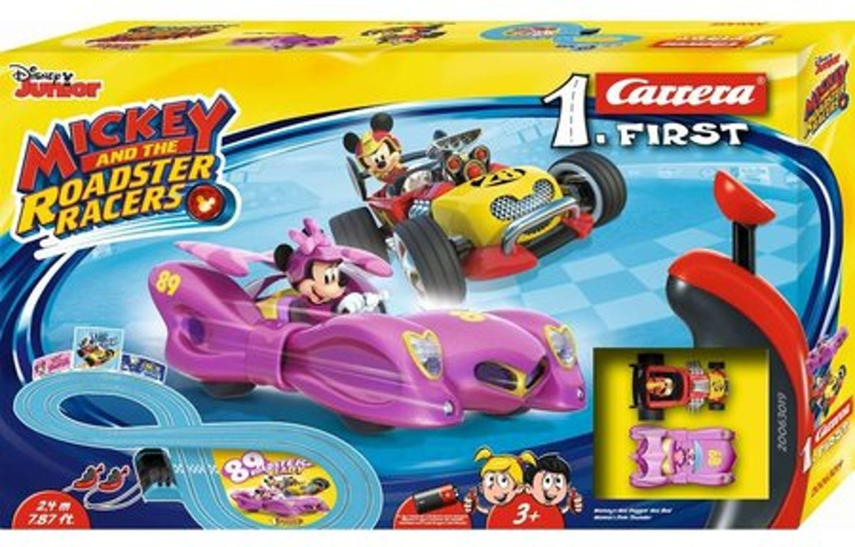 Carrera First Mickey Roadster Racers Minnie 2,4 meter -