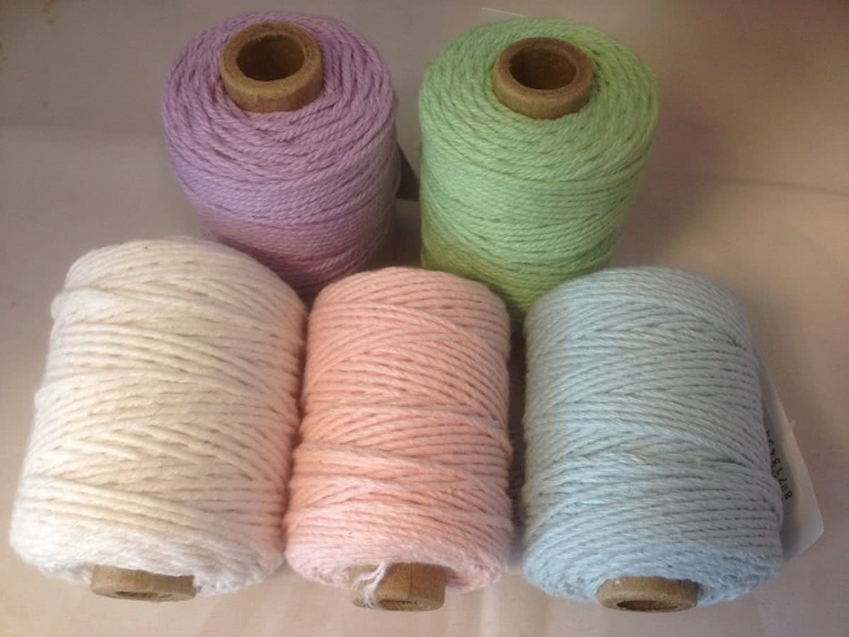 Cotton cord 2 mm x 50 meter klosje lila