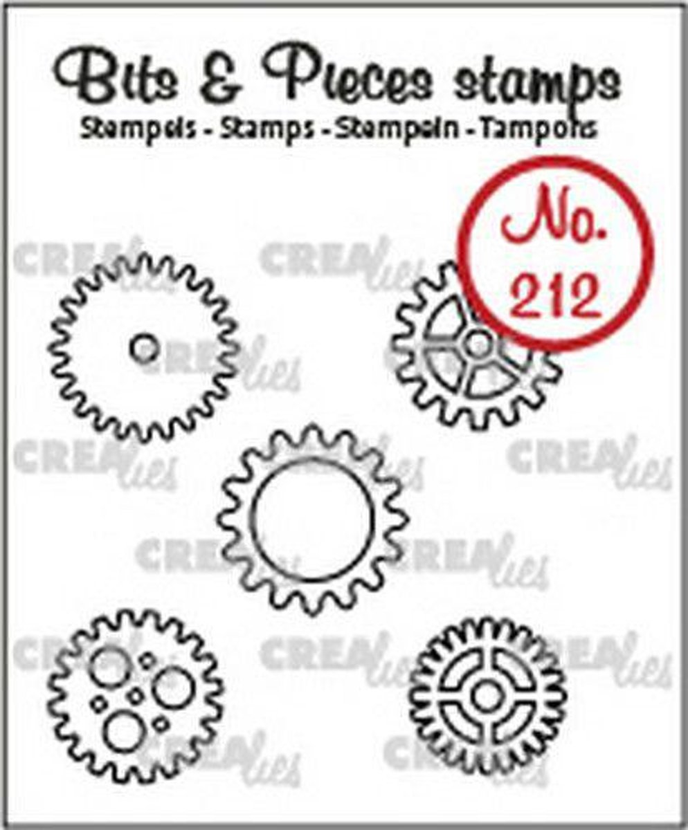 Crealies • Bits & Pieces stempel no.212 tandwielen klein 5x