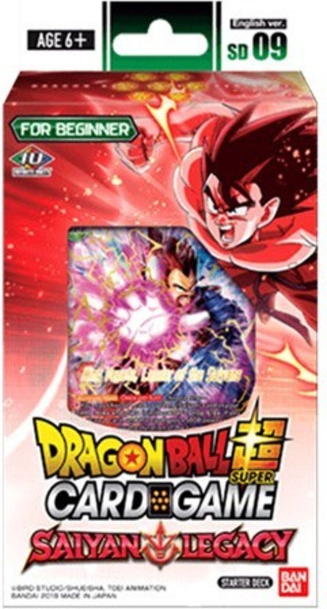 DRAGON BALL SUPER JCC -Starter Deck 9 x6 (09/08