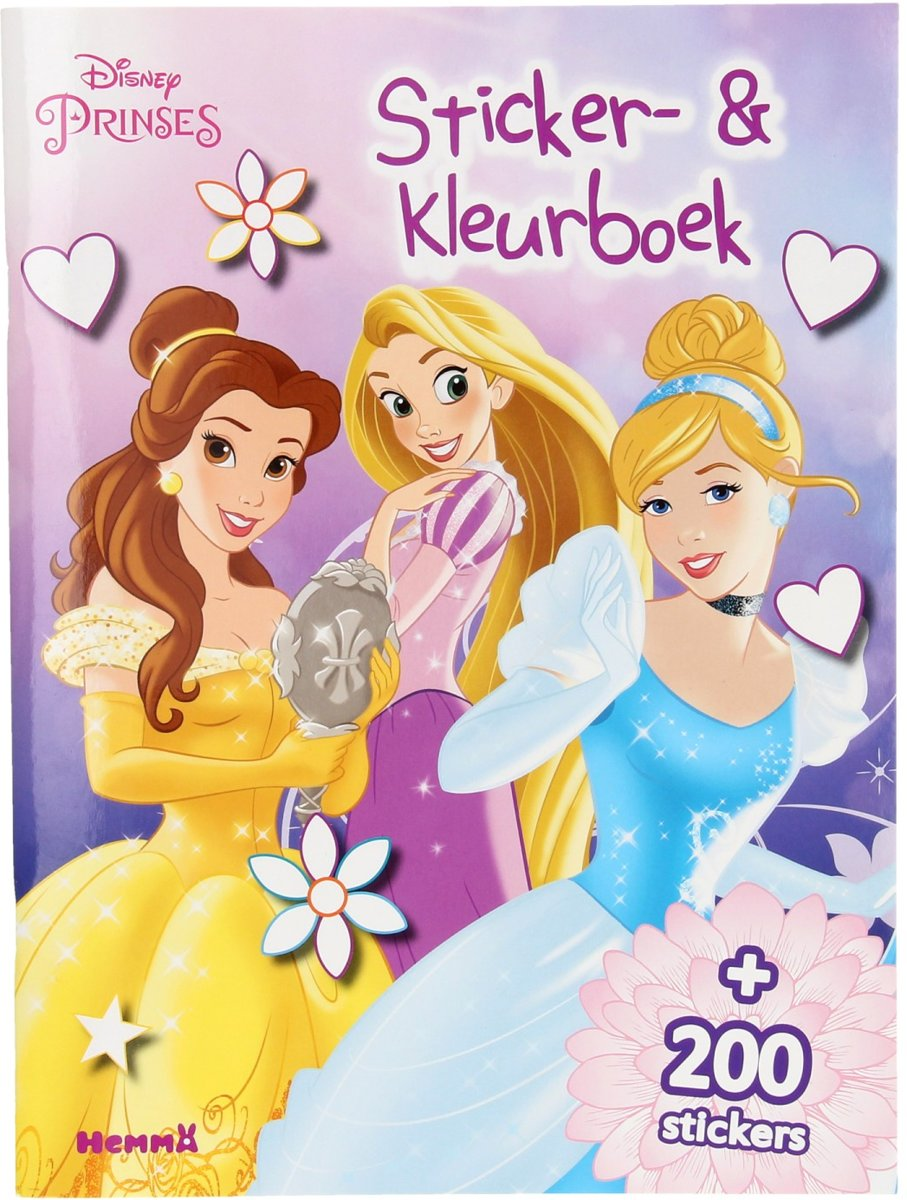 Disney Prinses Sticker- en Kleurboek
