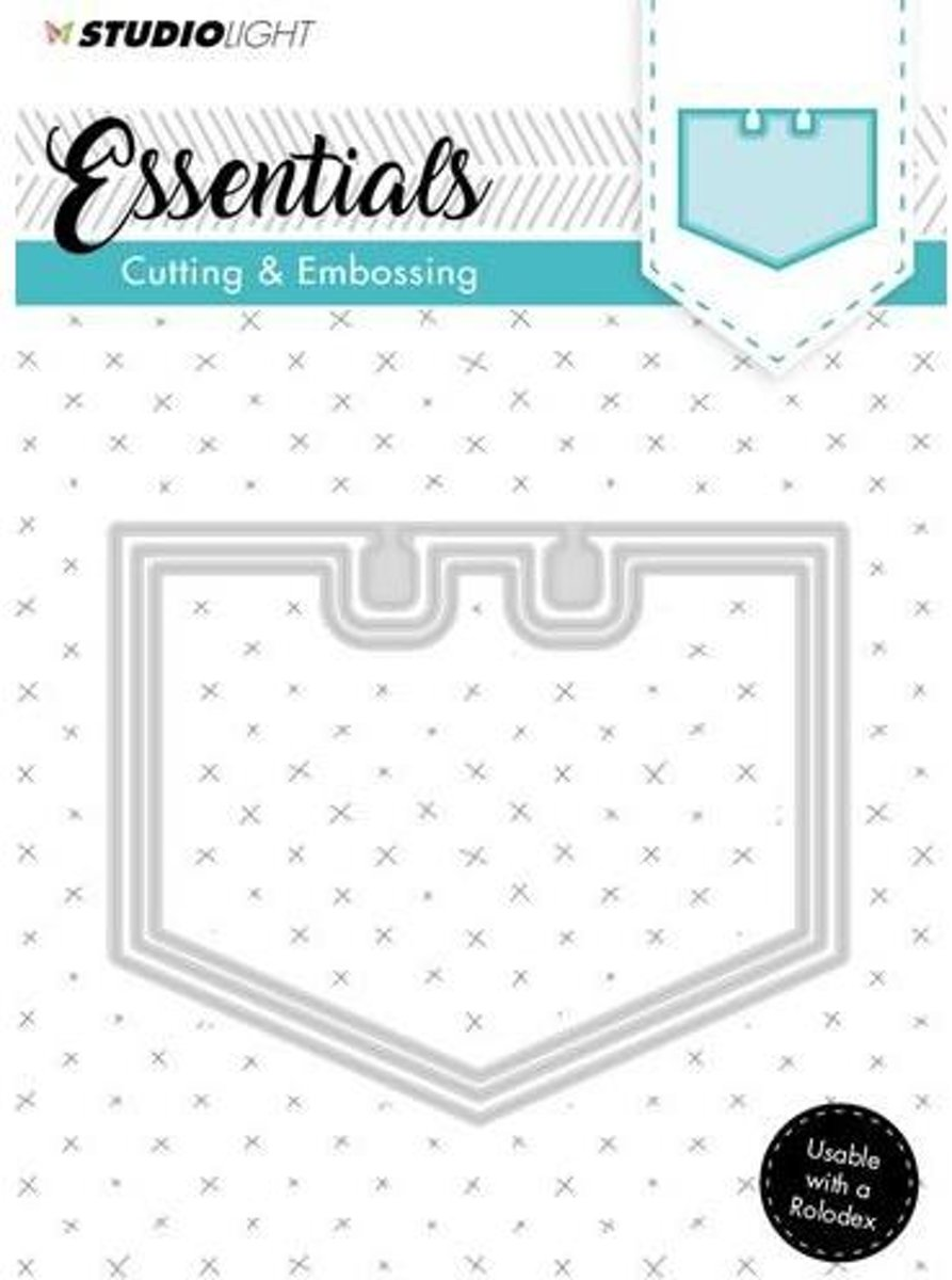 Embossing Mal Cut Stencil Essentials Nr.122 STENCILSL122