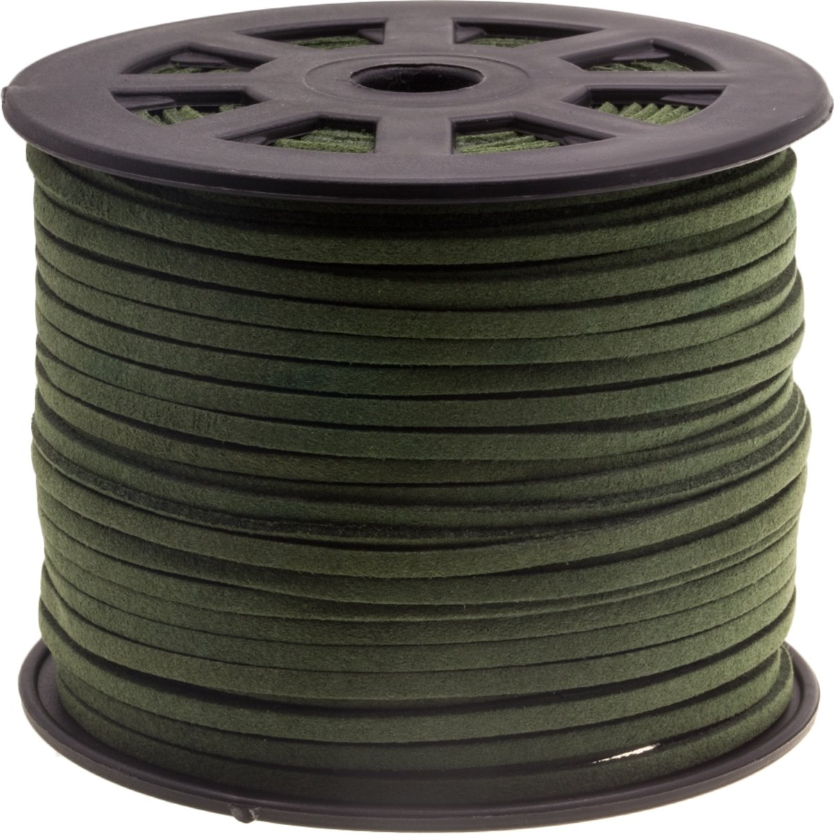 Faux Suede Veter (3 mm) Army Green (91 Meter)