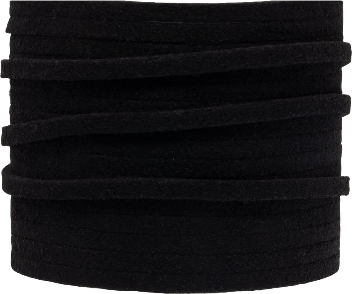 Faux Suede Veter (3 mm) Black (5 Meter)