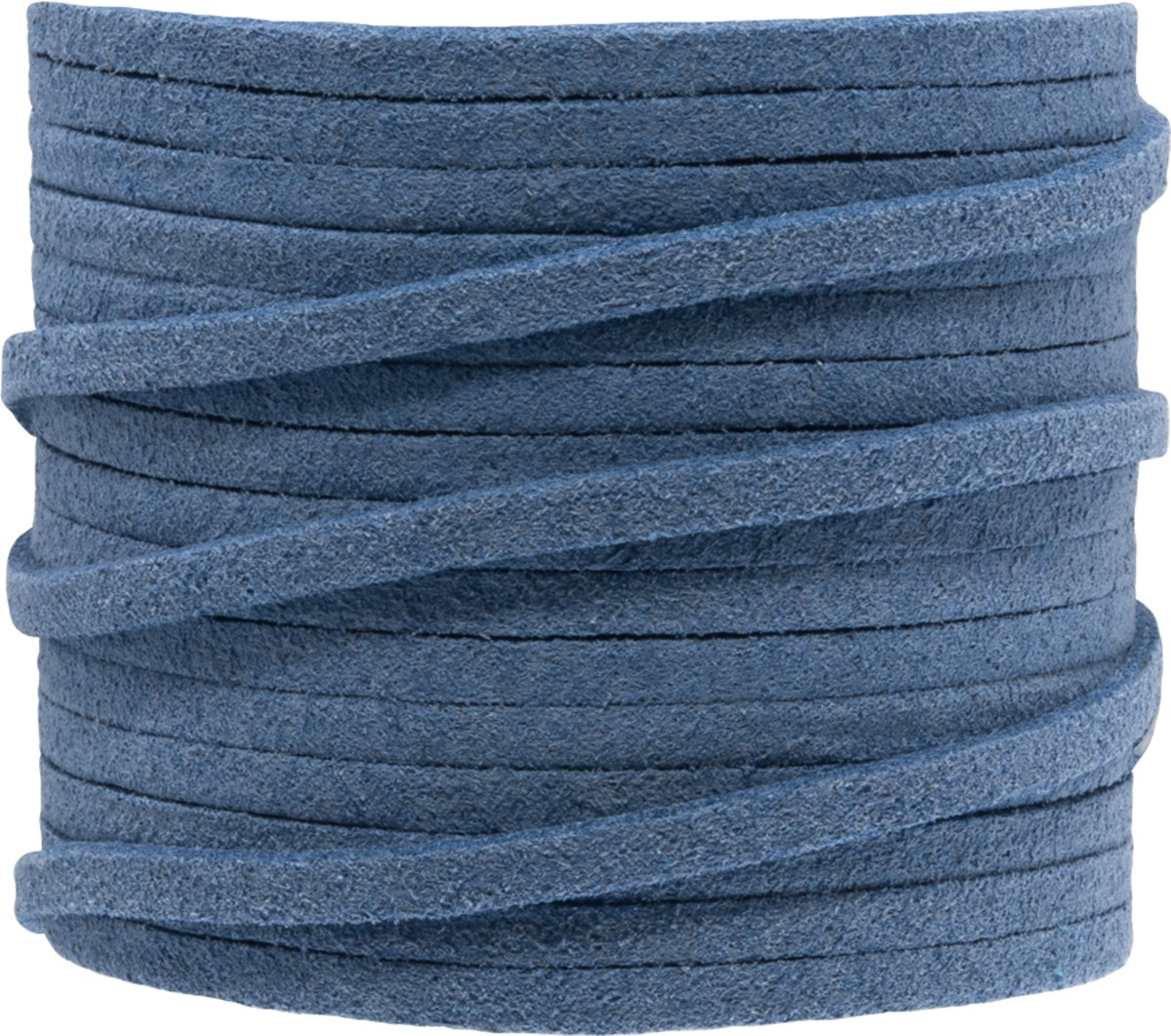 Faux Suede Veter (3 mm) Blue Epic (5 Meter)