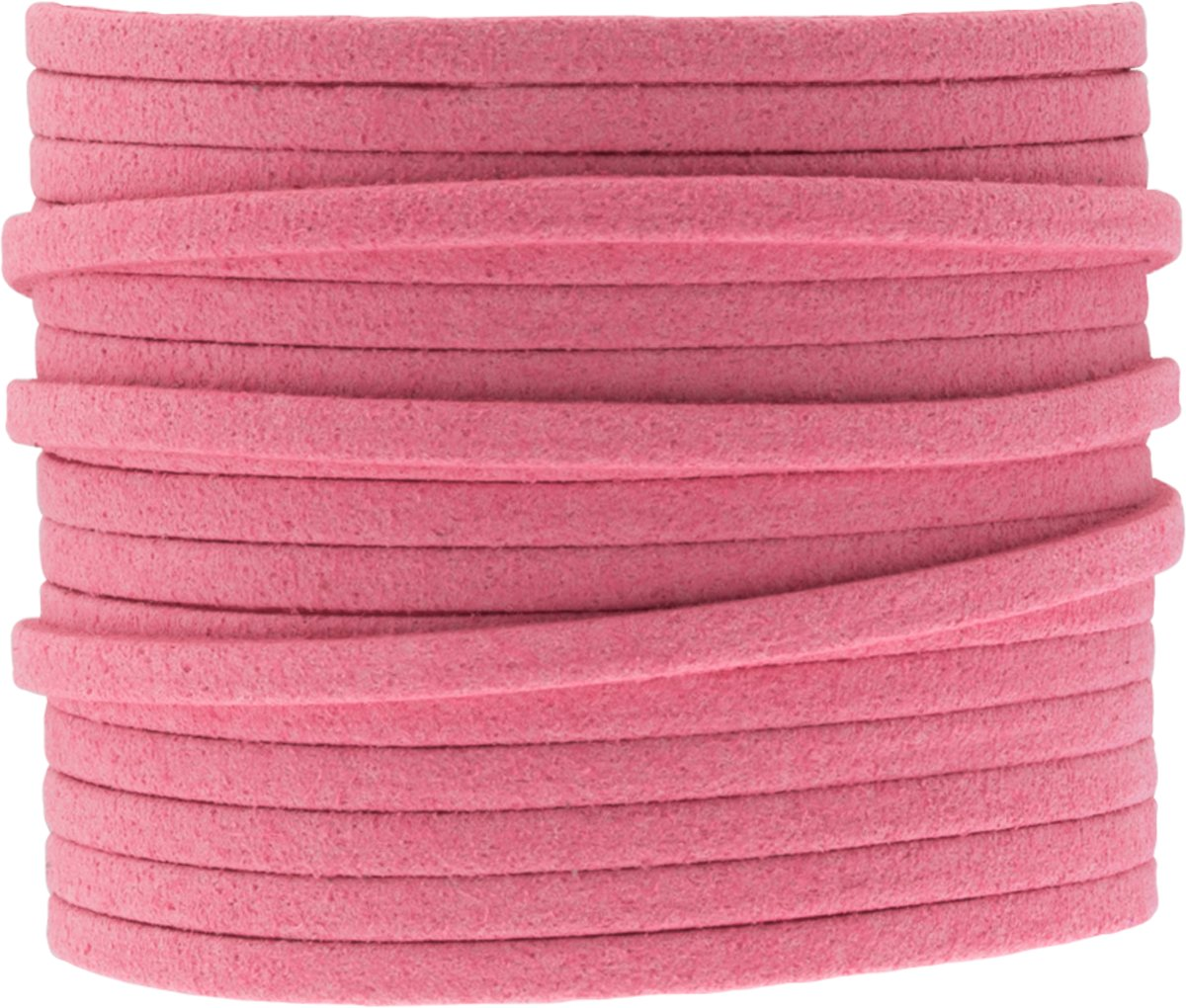 Faux Suede Veter (3 mm) Bright Candy Floss (5 Meter)
