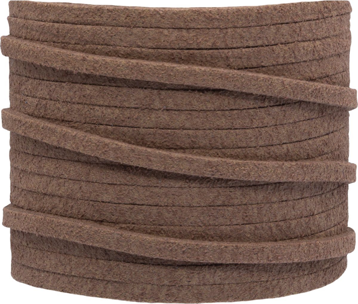Faux Suede Veter (3 mm) Brown Pink (5 Meter)