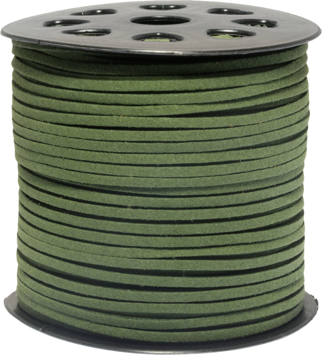 Faux Suede Veter (3 mm) Cactus Green (91 Meter)