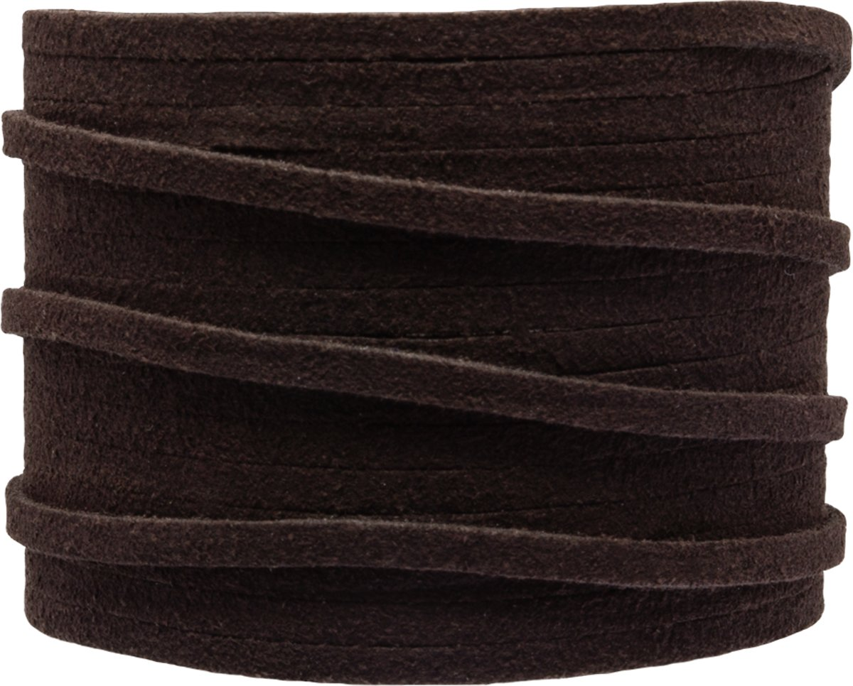Faux Suede Veter (3 mm) Coffee Brown (5 Meter)