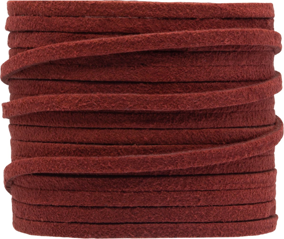 Faux Suede Veter (3 mm) Crimson Red (5 Meter)