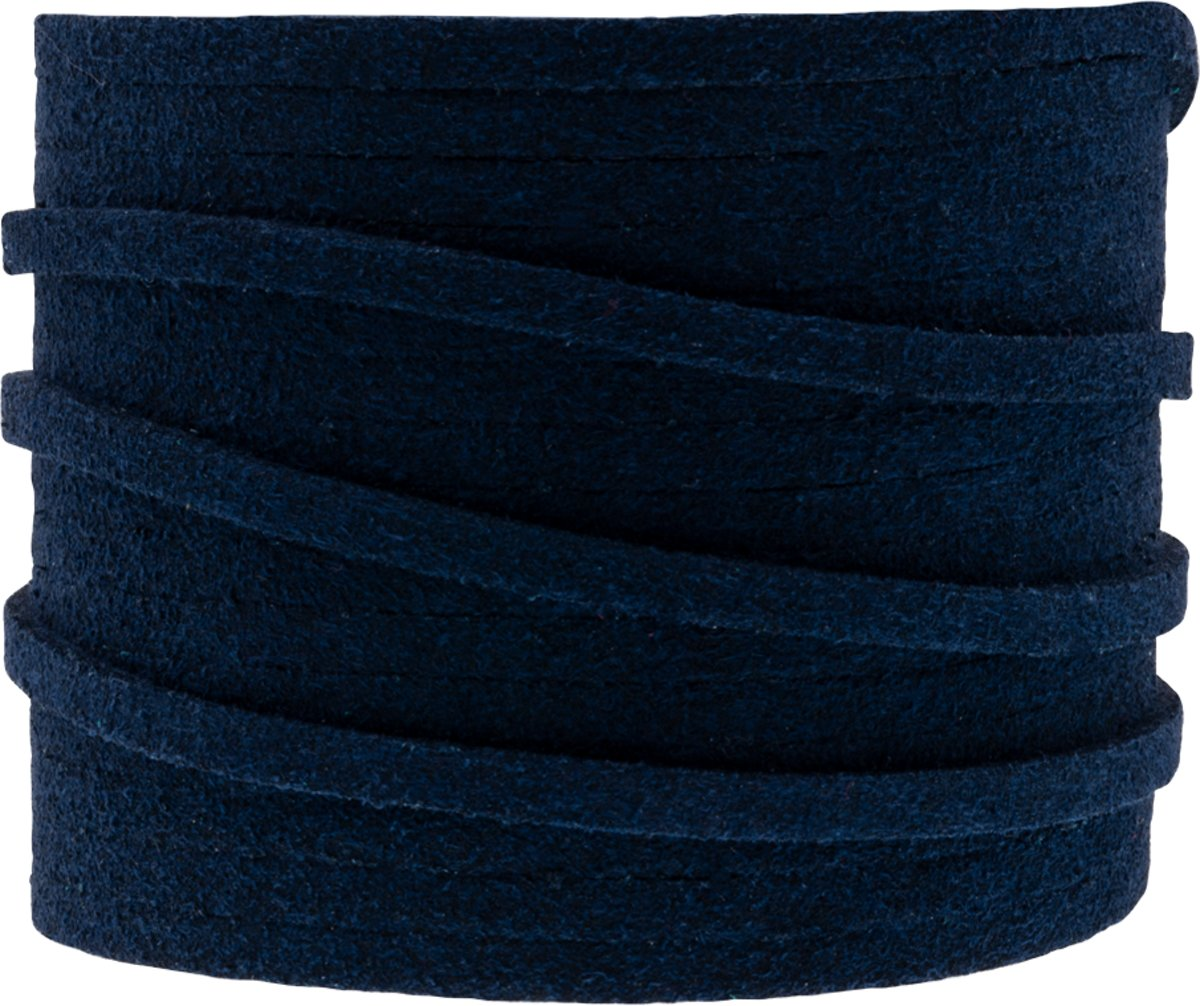 Faux Suede Veter (3 mm) Dark Blue (5 Meter)