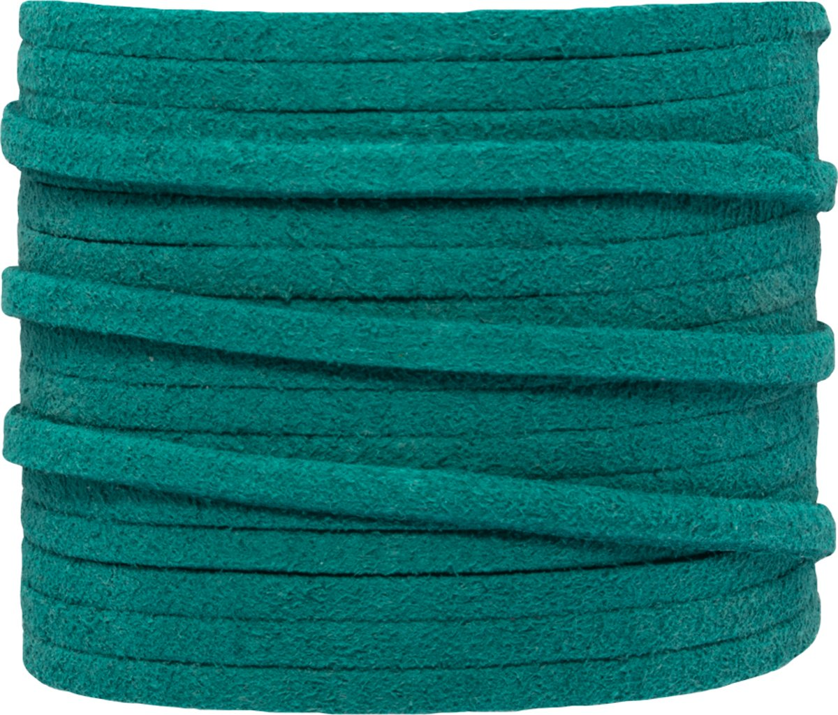 Faux Suede Veter (3 mm) Malachite (5 Meter)