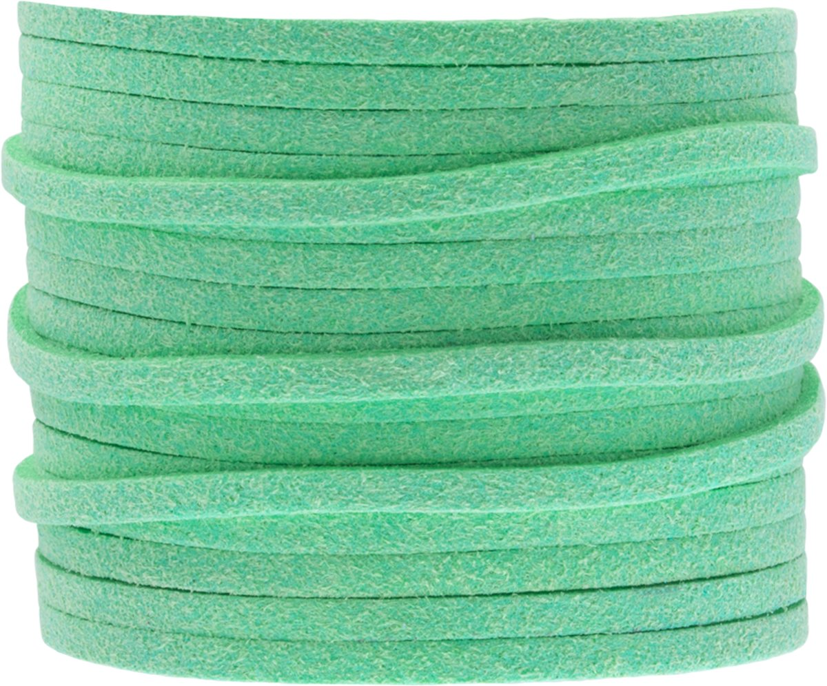Faux Suede Veter (3 mm) Mint Green (5 Meter)