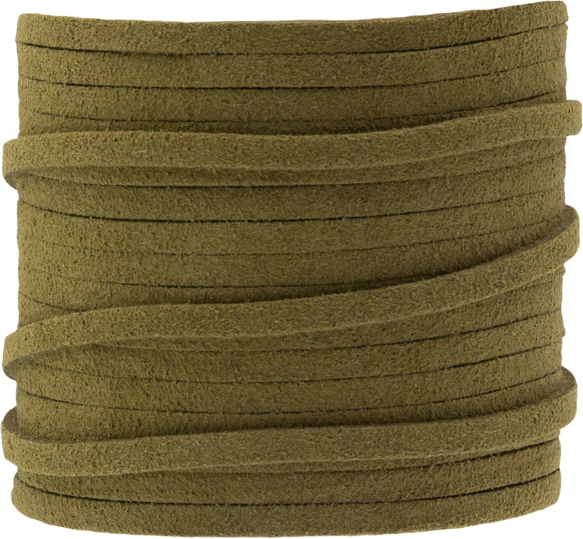 Faux Suede Veter (3 mm) Moss Green (5 Meter)
