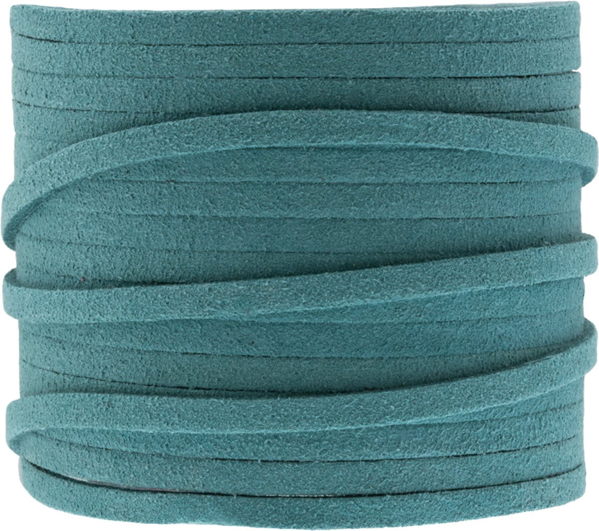 Faux Suede Veter (3 mm) Ocean Blue (5 Meter)