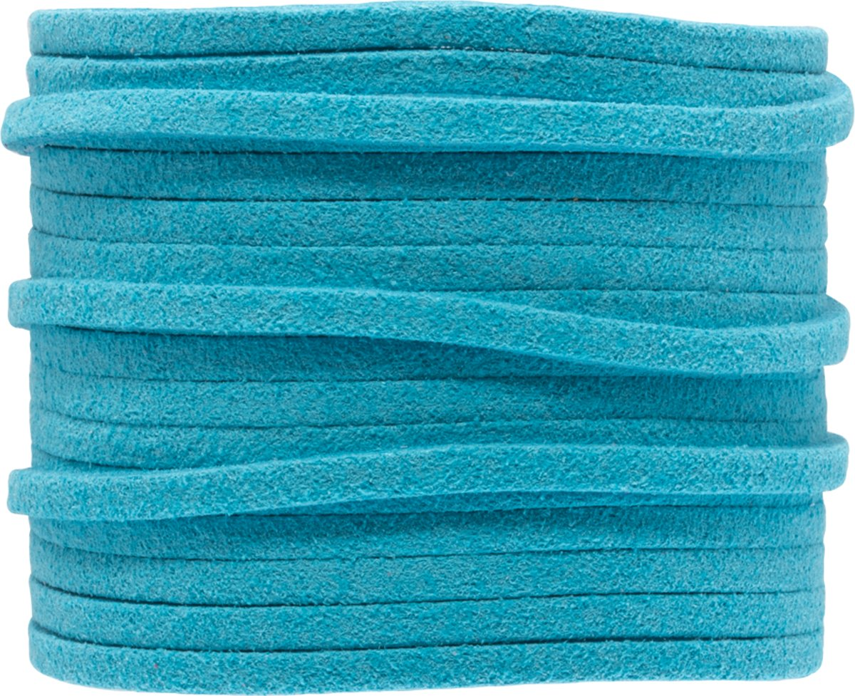 Faux Suede Veter (3 mm) Sky Blue (5 Meter)