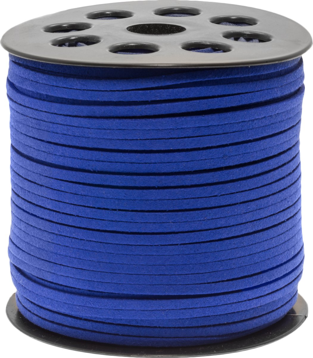Faux Suede Veter (3 mm) Strong Blue (91 Meter)