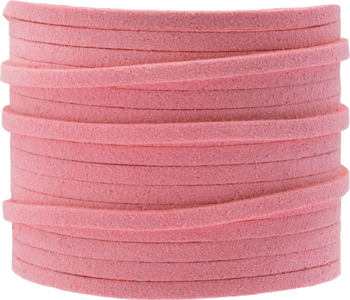 Faux Suede Veter (3 mm) Sweet Pink (5 Meter)