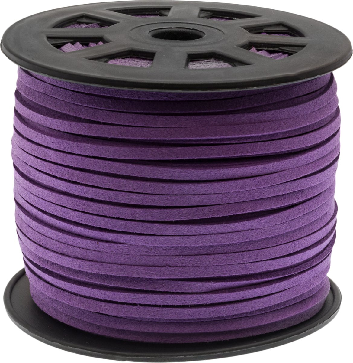 Faux Suede Veter (3 mm) Wisteria Purple (91 Meter)