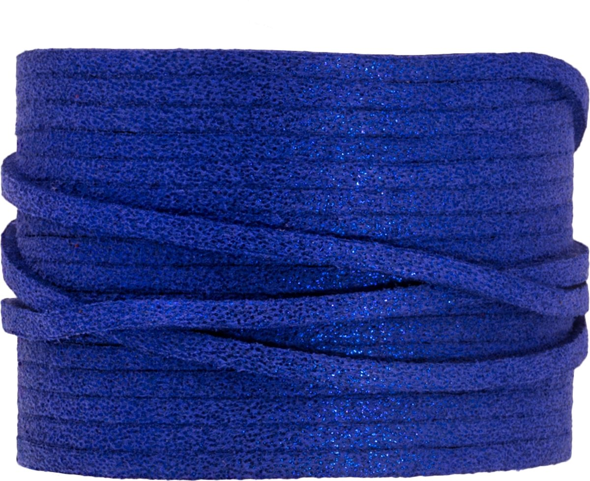 Faux Suede Veter Glitter (3 mm) Royal Blue (9.5 Meter)