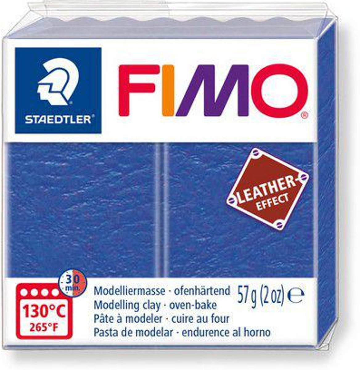 Fimo Effect leather 57 g indigo 8010-309