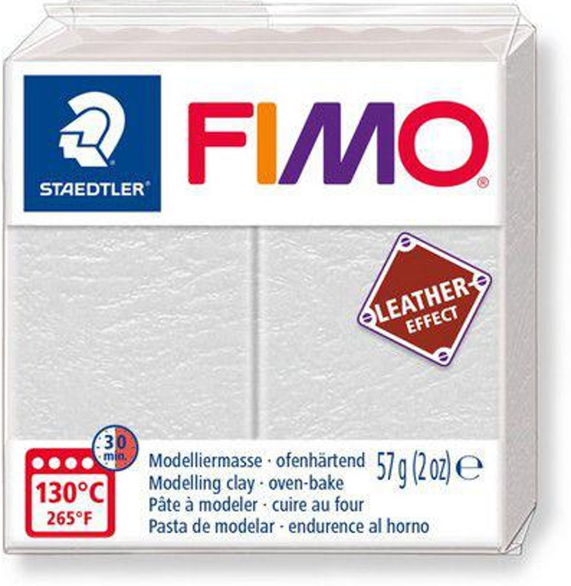 Fimo Effect leather 57 g ivoor 8010-029