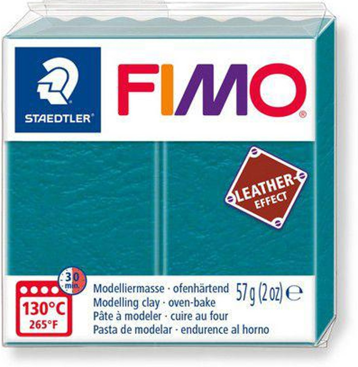 Fimo Effect leather 57 g lagune 8010-369