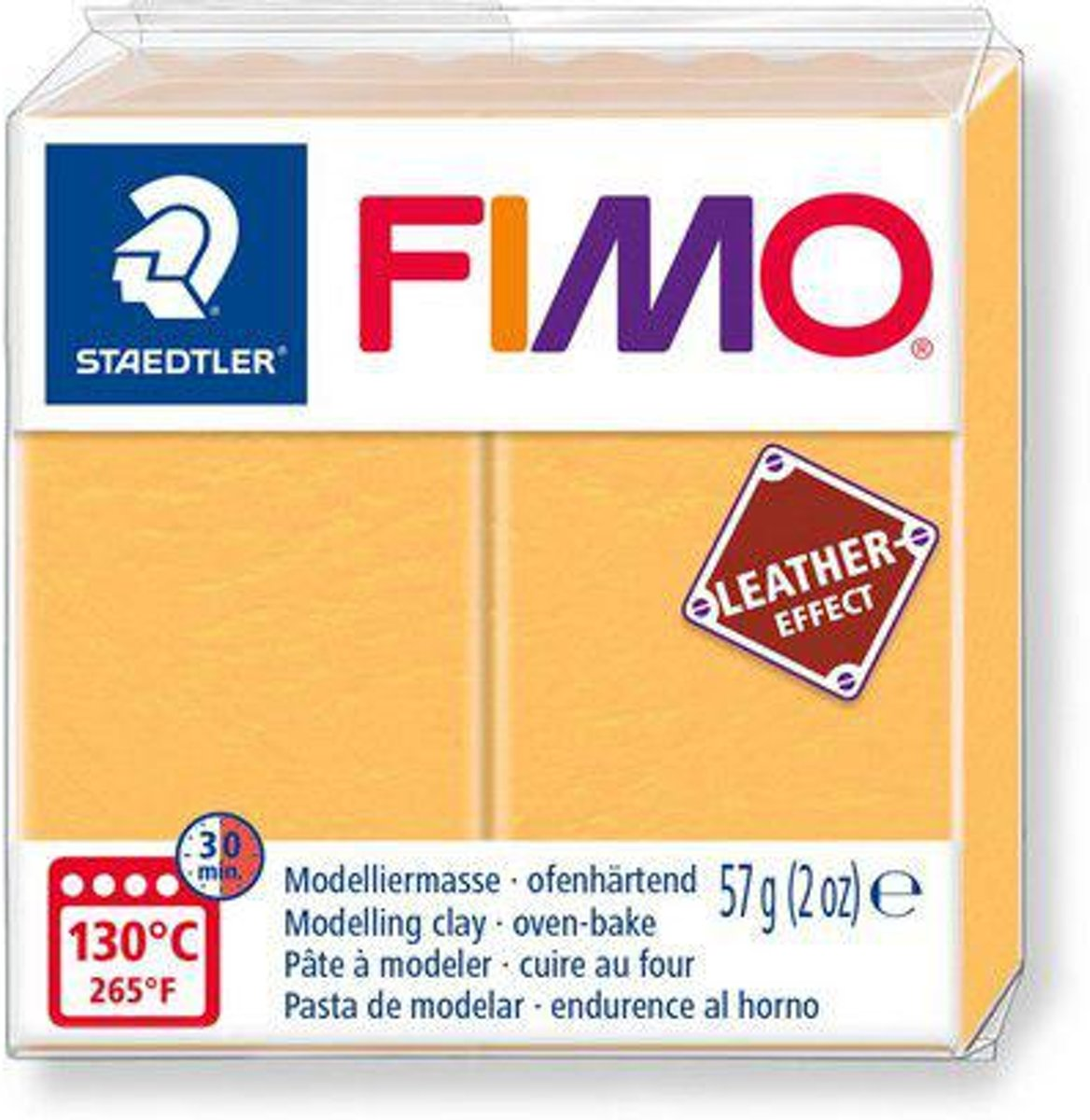 Fimo Effect leather 57 g saffraan geel 8010-109