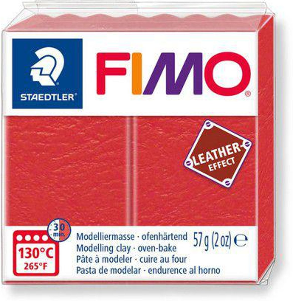 Fimo Effect leather 57 g watermeloen 8010-249