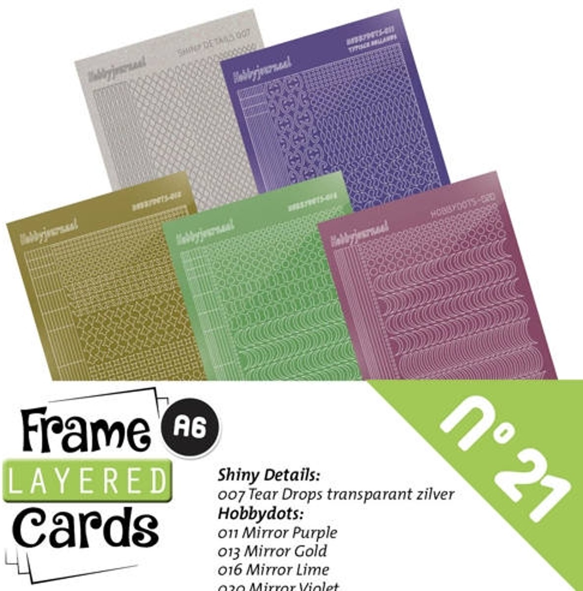 Frame LayeRood Cards 21 - Stickerset
