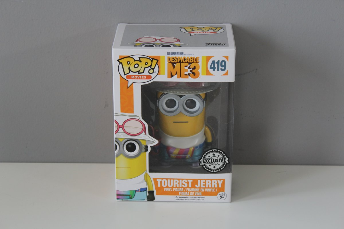 Funko POP Movies -  Despicable me 3- Tourist Jerry - 419 - Exclusive