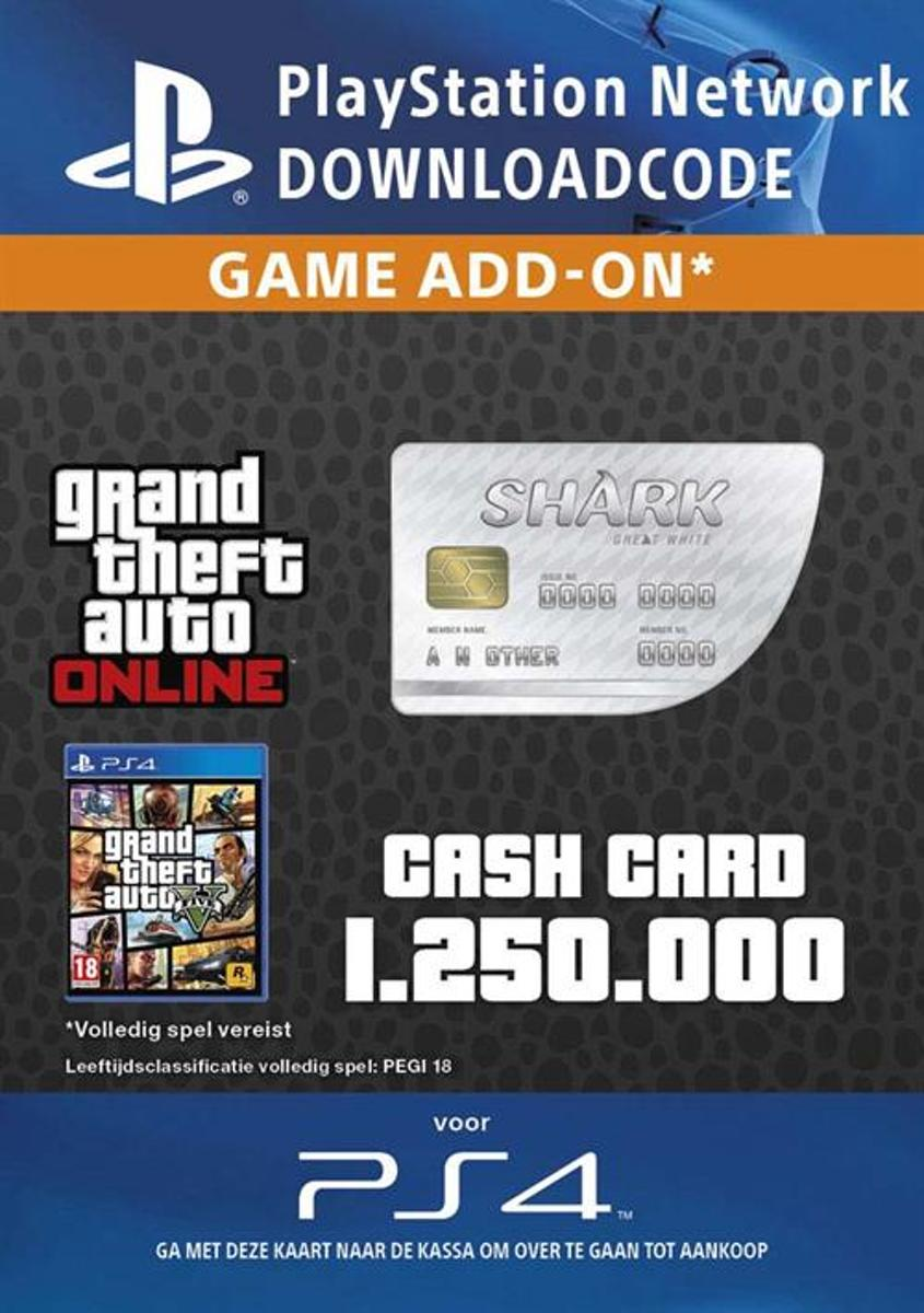 GTA V 1.250.000 GTA dollars - Great White Shark (NL)