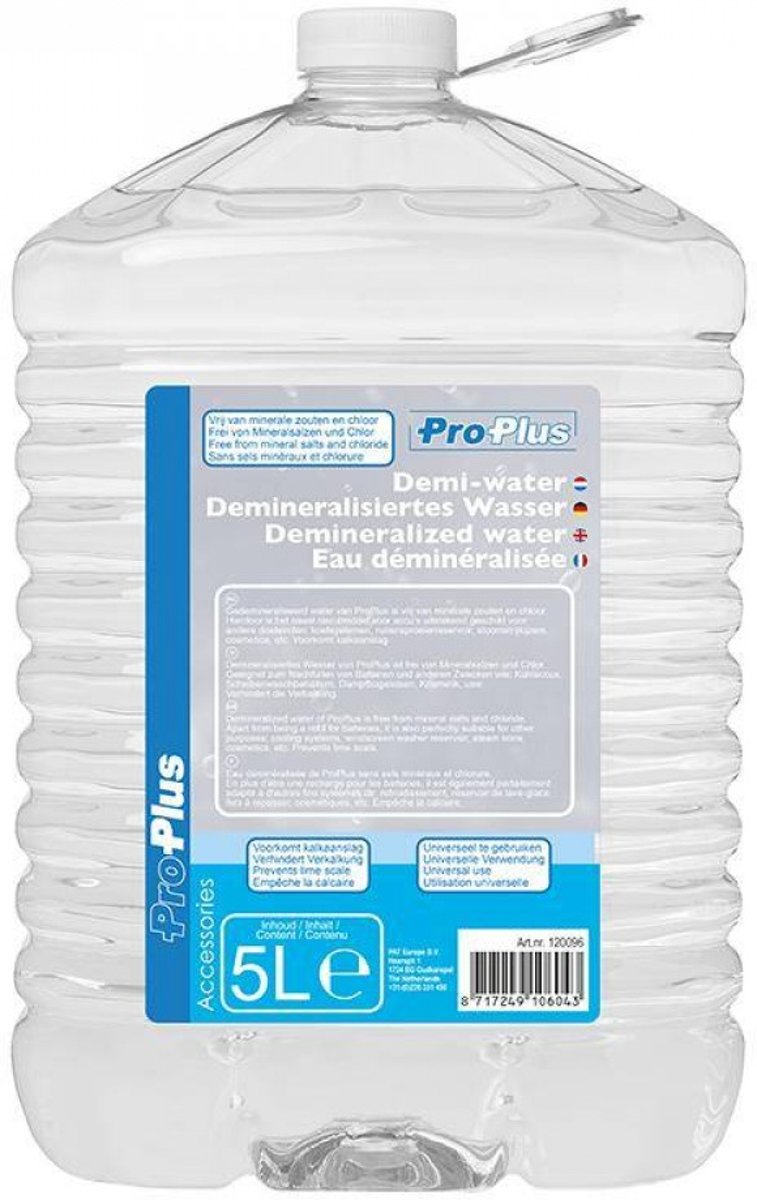 Gedemineraliseerd Water - 5 liter