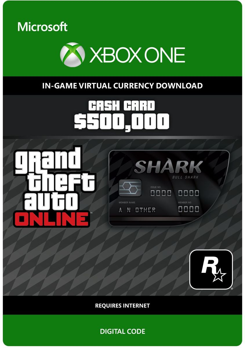 Grand Theft Auto V (GTA 5) - Bull Shark Cash Card: $ 500.000 - Xbox One download