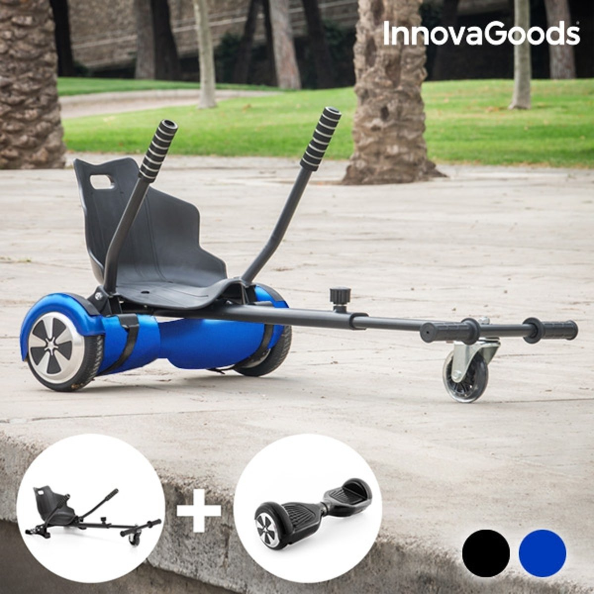 Hoverkart + Hoverboard Kit Inclusief Electrische Step Hoverboard (Blauw)