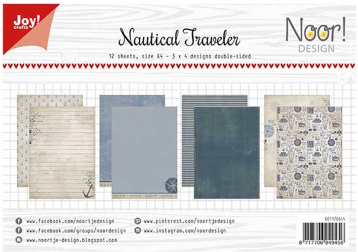Joy!Crafts • Papierset A4 12 vel nautical traveler